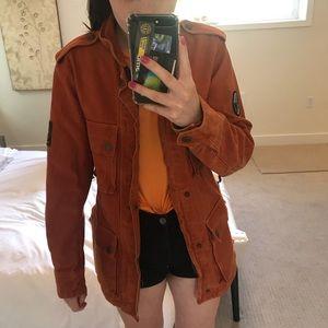 Orange coat!